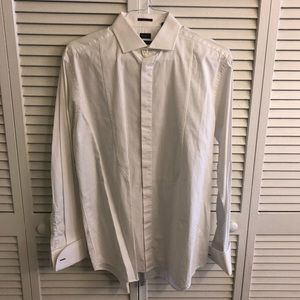 Paul Smith Classic Fit White Button Down, 15.5